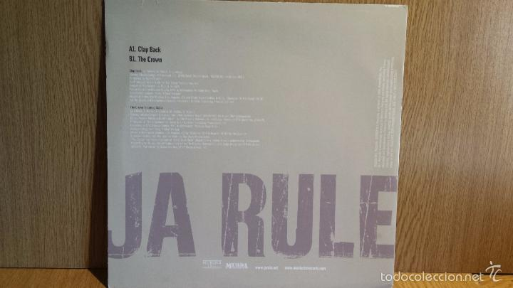 Discos de vinilo: JA RULE. CLAP BACK. MAXI SINGLE / M.I. RECORDS - 2003. MBC. ***/*** - Foto 2 - 56230799