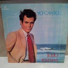 Discos de vinilo: JULIO IGLESIAS LP YO CANTO VER FOTOS. Lote 56232535