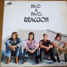 Discos de vinilo: REACCION -PASO A PASO -LP 1973 ***PROMO*** SPANISH SUNSHINE POPSIKE PAPAGAYO. Lote 56232907