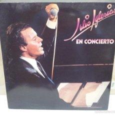 Discos de vinilo: JULIO IGLESIAS EN CONCIERTO LP VER FOTOS DOBLE. Lote 56232971