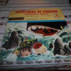 Discos de vinilo: AVENTURAS DE PINOCHO NARRACION SONORA CON DIAPOSITIVAS FLEXI. Lote 56239199