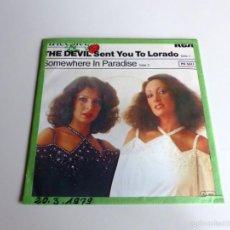 Discos de vinilo: SINGLE. BACCARA - THE DEVIL SENT YOU TO LORADO.1979. Lote 56240794