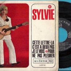 Discos de vinilo: SYLVIE VARTAN: CETTE LETTRE-LA / C´EST A DEUX PAS / JE LE VOIS / POUR NE PAS PEURER. Lote 56252256