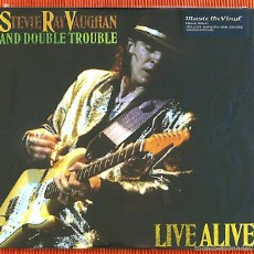 Discos de vinilo: STEVIE RAY VAUGHAN - LIVE ALIVE 180G 2 LP AUDIOPHILE MUSIC ON VINYL PRECINTADO. Lote 56258687