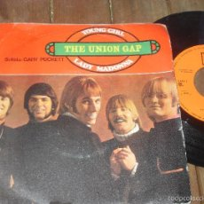 Discos de vinilo: THE UNION GAP SINGLE YOUNG GIRL LADY MADONNA MADE IN SPAIN 1968. Lote 56261722