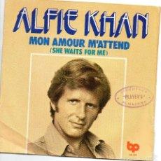 Discos de vinilo: ALFIE KHAN - MON AMOUR M`ATTEND - SINGLE. Lote 56286250