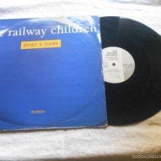 Discos de vinilo: THE RAILWAY CHILDREN OVER AND OVER REMIX MAXI IMPORTACION MAXI IMPORTACION VIRGIN. Lote 56292769