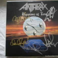 Discos de vinilo: ANTHRAX ?– PERSISTENCE OF TIME (AUSTRALIA) FIRMADO POR LA BANDA, COLECCIONISTA!!!!!!!!!!!. Lote 56293766
