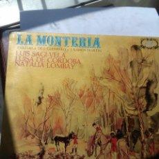 Discos de vinilo: LA MONTERIA. ZARZUELA DE J. GUERRERO Y J. RAMOS MARTIN. C5V. Lote 56298194