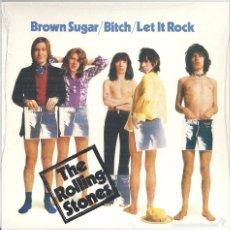 Discos de vinilo: ROLLING STONES, THE: BROWN SUGAR / BITCH / LET IT ROCK (LIVE AT LEEDS 1971). Lote 56298512