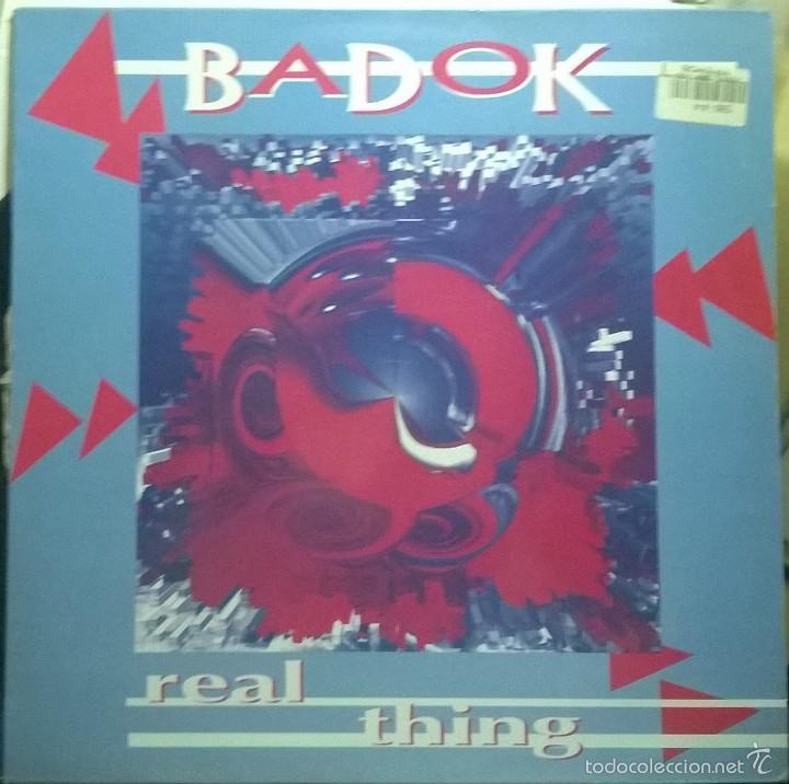 BADOK– REAL THING, LUCAS RECORDS – LSMX-165 (Música - Discos - Singles Vinilo - Techno, Trance y House)