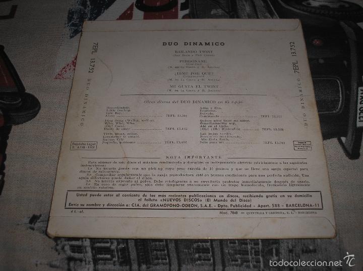 Discos de vinilo: DUO DINAMICO - EP 1962 - PERDONAME + 3 - Foto 2 - 56301370
