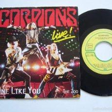 Discos de vinilo: SCORPIONS SINGLE NO ONE LIKE YOU EDICIÓN ESPAÑOLA . Lote 56301432