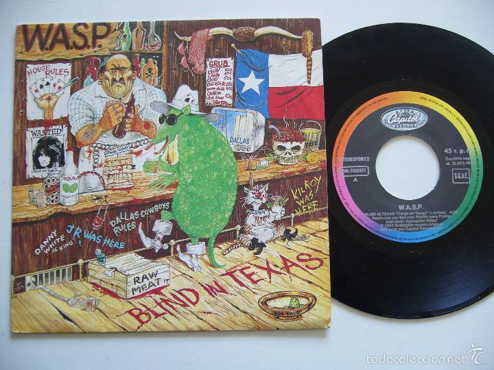 WASP SINGLE BLIND IN TEXAS EDICIÓN ESPAÑOLA (Música - Discos - Singles Vinilo - Heavy - Metal)
