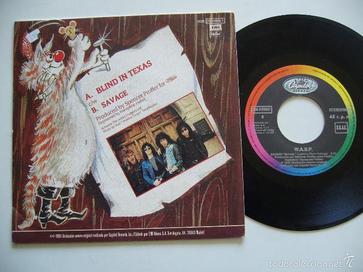 Discos de vinilo: WASP Single Blind in Texas edición española - Foto 2 - 56301613