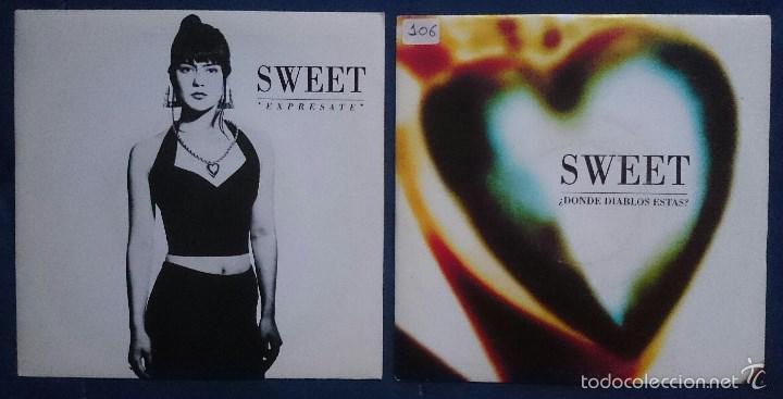 SWEET: ¿DÓNDE DIABLOS ESTÁS?, SINGLE ARIOLA 114002. EX/VG+. + EXPRESATE,SINGLE ARIOLA 113763. NM/EX. (Música - Discos - Singles Vinilo - Rap / Hip Hop)