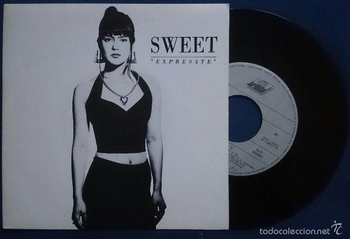 Discos de vinilo: Sweet: ¿Dónde diablos estás?, single Ariola 114002. EX/VG+. + Expresate,single Ariola 113763. NM/EX. - Foto 2 - 56303344