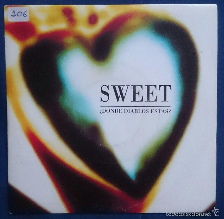 Discos de vinilo: Sweet: ¿Dónde diablos estás?, single Ariola 114002. EX/VG+. + Expresate,single Ariola 113763. NM/EX. - Foto 4 - 56303344