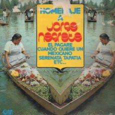 Discos de vinilo: HOMENAJE A JORGE NEGRETE ...LP. Lote 56304494