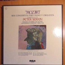 Discos de vinilo: MOZART. SEIS CONCIERTOS PARA PIANO Y ORQUESTA. COMPUESTOS EN 1784. PETER SERKIN. ENGLISH CHAMBER ORC. Lote 116990730