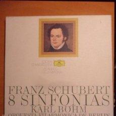 Discos de vinilo: FRANZ SCHUBBERT. 8 SINFONIAS. KARL BÖHM. ORQUESTA FILARMONICA DE BERLIN. EDICION CONMEMORATICA EL MU. Lote 56306581