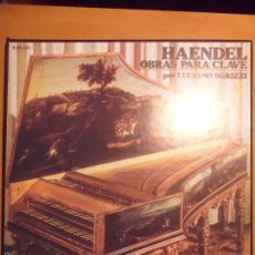 Discos de vinilo: HAENDEL. OBRAS PARA CLAVE. POR LUCIANO SGRIZZI. ERATO. CAJA CON 3 LP'S. 910 GRAMOS.. Lote 56306654