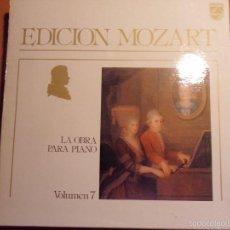 Discos de vinilo: EDICION MOZART. LA OBRA PARA PIANO. PHILIPS. VOLUMEN 7. CAJA CON 14 LP'S. 2290 GRAMOS.. Lote 97882763