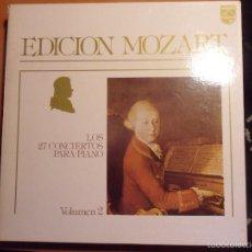 Discos de vinilo: EDICION MOZART. LOS 27 CONCIERTOS PARA PIANO. PHILIPS. VOLUMEN 2. CAJA CON 13 LP'S. 2100 GRAMOS.. Lote 56306989