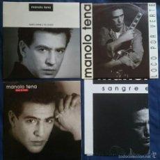 Discos de vinilo: MANOLO TENA: QUIERO BEBER Y NO OLVIDAR + ¿QUÉ TE PASA? + LOCO POR VERTE. 3 SINGLES PROMO DE 1992. Lote 56309283