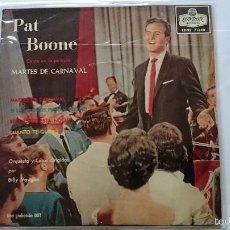 Discos de vinilo: PAT BOONE - THE MARDI GRAS MARCH (OST/BSO 'MARTES DE CARNAVAL') / IF DREAM COME TRUE +2 (EP 1960). Lote 56320923