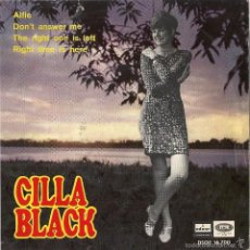Discos de vinilo: CILLA BLACK: ALFIE / DON´T ANSWER ME / THE RIGHT ONE IS LEFT / RIGHT TIME IS HERE. Lote 56322126