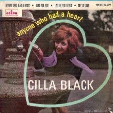 Discos de vinilo: CILLA BLACK: ANYONE WHO HAD A HEART / JUST FOR YOU / LOVE OF THE LOVED (LENNON & MCCARTNEY) / + 1. Lote 56322318