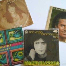 Discos de vinilo: LOTE SINGLES MÚSICA MELÓDICA: JULIO IGLESIAS CON HEY!, GIANNI NAZZARO, RITA LEE (LANÇA PERFUME).... Lote 56324020