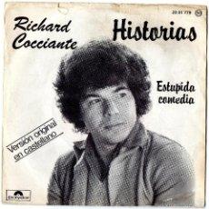 Discos de vinilo: RICHARD COCCIANTE - HISTORIAS - SINGLE. Lote 56326563