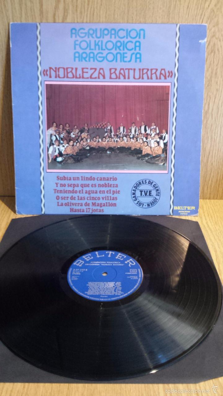 AGRUPACIÓN FOLKLÓRICA ARAGONESA NOBLEZA BATURRA. LP / BELTER-1980 / CALIDAD LUJO.***/**** (Música - Discos - LP Vinilo - Country y Folk)