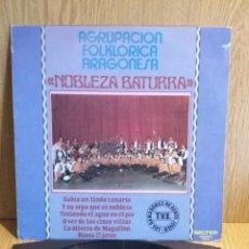 Discos de vinilo: AGRUPACIÓN FOLKLÓRICA ARAGONESA NOBLEZA BATURRA. LP / BELTER-1980 / CALIDAD LUJO.***/****. Lote 56329863