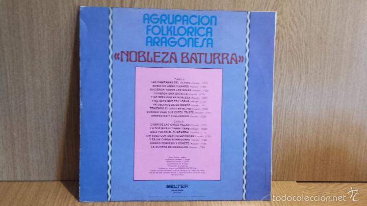 Discos de vinilo: AGRUPACIÓN FOLKLÓRICA ARAGONESA NOBLEZA BATURRA. LP / BELTER-1980 / CALIDAD LUJO.***/**** - Foto 2 - 56329863