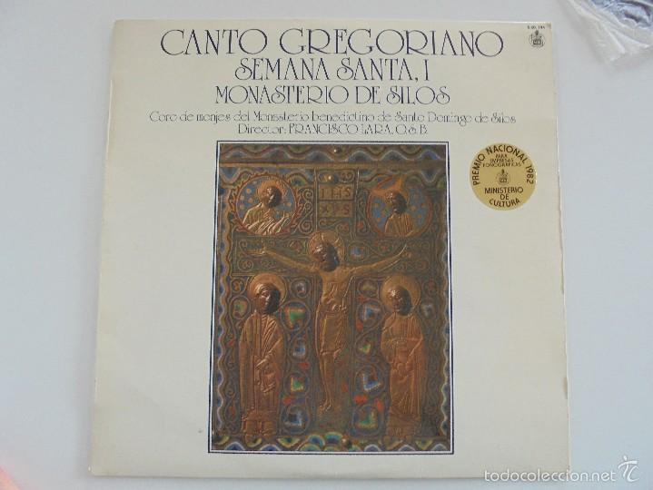 Discos de vinilo: CANTO GREGORIANO SEMANA SANTA I. MONASTERIO DE SILOS. FRANCISCO LARA. VER FOTOGRAFIAS ADJUNTAS. - Foto 2 - 56330208