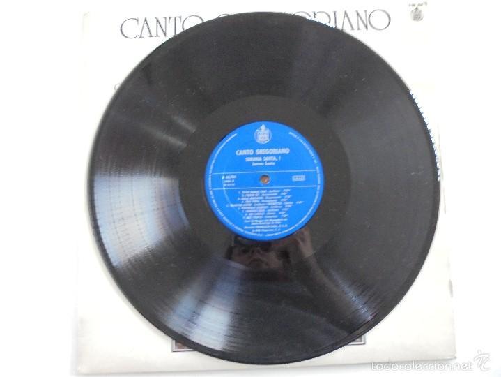 Discos de vinilo: CANTO GREGORIANO SEMANA SANTA I. MONASTERIO DE SILOS. FRANCISCO LARA. VER FOTOGRAFIAS ADJUNTAS. - Foto 3 - 56330208