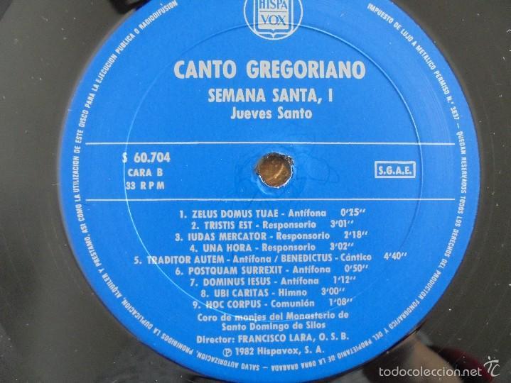 Discos de vinilo: CANTO GREGORIANO SEMANA SANTA I. MONASTERIO DE SILOS. FRANCISCO LARA. VER FOTOGRAFIAS ADJUNTAS. - Foto 4 - 56330208