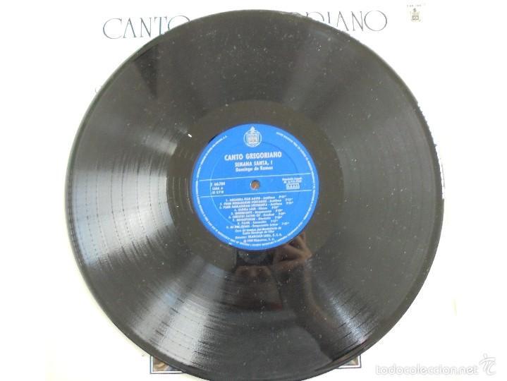 Discos de vinilo: CANTO GREGORIANO SEMANA SANTA I. MONASTERIO DE SILOS. FRANCISCO LARA. VER FOTOGRAFIAS ADJUNTAS. - Foto 5 - 56330208