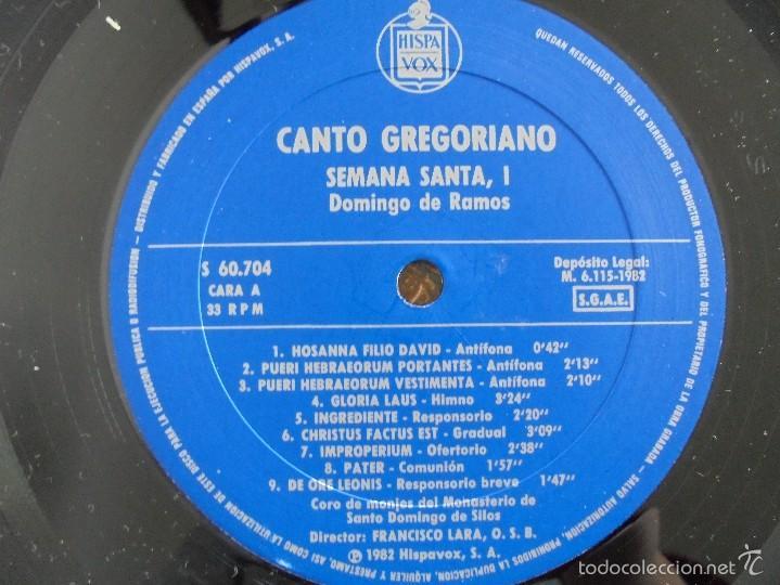 Discos de vinilo: CANTO GREGORIANO SEMANA SANTA I. MONASTERIO DE SILOS. FRANCISCO LARA. VER FOTOGRAFIAS ADJUNTAS. - Foto 6 - 56330208