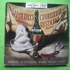 Discos de vinilo: IPAGLIACCI LEON CABALLO / CAVALLERIA RUSTICANA MASCAGNI DOBLE EP GATEFOLD DURACION AMPLIADA RCA. Lote 56331300