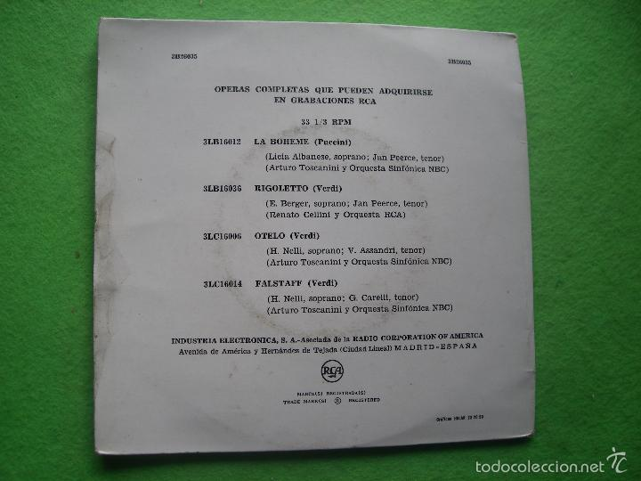 Discos de vinilo: IPAGLIACCI LEON CABALLO / CAVALLERIA RUSTICANA MASCAGNI DOBLE EP GATEFOLD DURACION AMPLIADA RCA - Foto 2 - 56331300