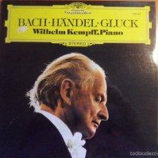 Discos de vinilo: BACH. HÄNDEL. GLUCK. DEUTSCHE GRAMMOPHON. WILHELM KEMPFF, PIANO.. Lote 56331609