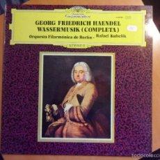 Discos de vinilo: GEORG FRIEDRICH HAENDEL. WASSERMUSIK (COMPLETA). ORQUESTA FILARMONICA DE BERLIN. RAFAEL KUBELIK. DEU. Lote 56331658