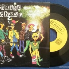 Discos de vinilo: DERRAME CEREBRAL: MERCENARIO DEL OCIO / ESTE VERANO - REFUGIO NUCLEAR. SINGLE PROMO 1985. M/EX. Lote 56332758