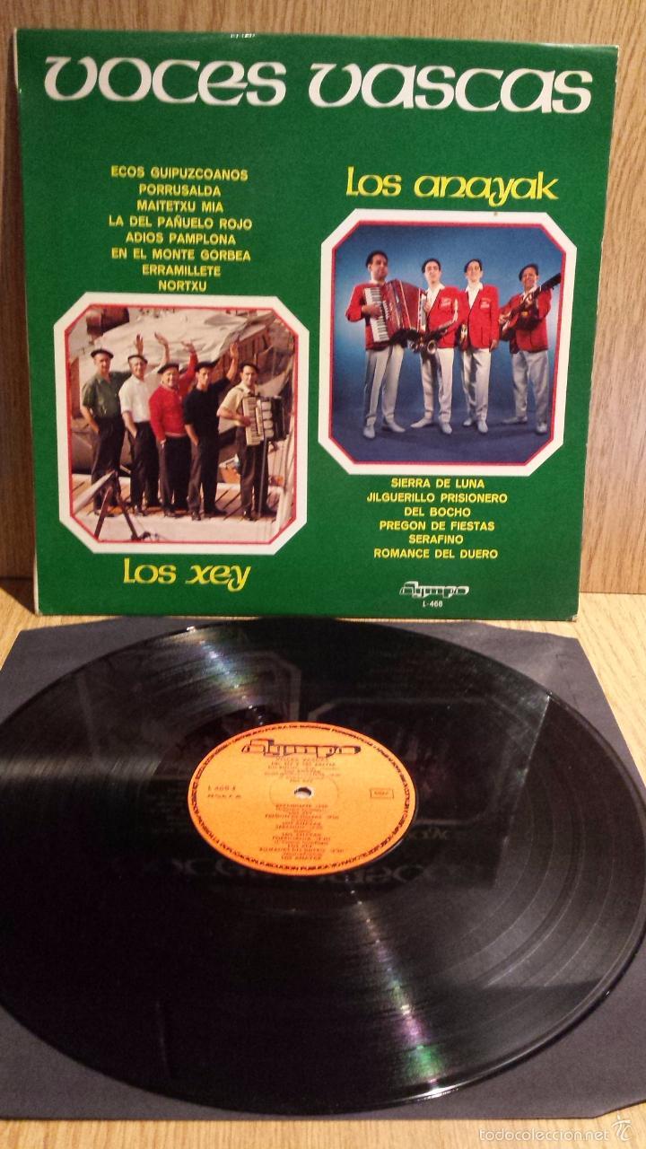 VOCES VASCAS.LOS ANAYAK / LOS XEY. LP / OLYMPO - 1976. MBC. ***/*** (Música - Discos - LP Vinilo - Country y Folk)