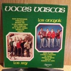 Discos de vinilo: VOCES VASCAS.LOS ANAYAK / LOS XEY. LP / OLYMPO - 1976. MBC. ***/***. Lote 56335305