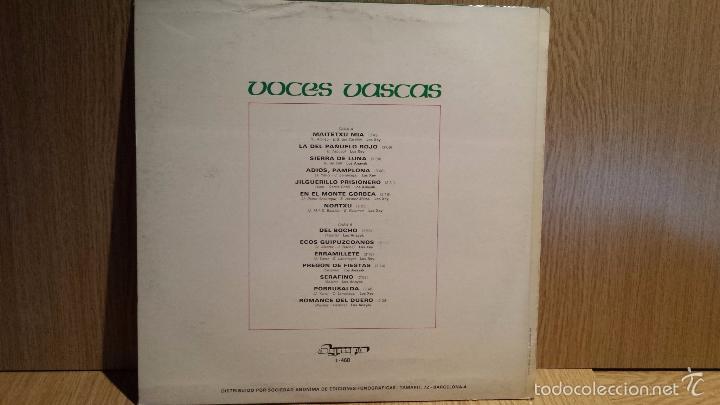 Discos de vinilo: VOCES VASCAS.LOS ANAYAK / LOS XEY. LP / OLYMPO - 1976. MBC. ***/*** - Foto 2 - 56335305